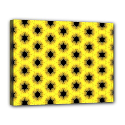 Yellow Fractal In Kaleidoscope Canvas 14  X 11  by Amaryn4rt