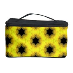 Yellow Fractal In Kaleidoscope Cosmetic Storage Case by Amaryn4rt