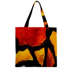 Colorful Glass Mosaic Art And Abstract Wall Background Zipper Grocery Tote Bag by Amaryn4rt