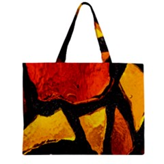 Colorful Glass Mosaic Art And Abstract Wall Background Zipper Mini Tote Bag by Amaryn4rt