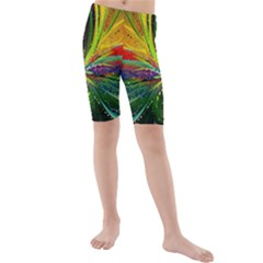 Future Abstract Desktop Wallpaper Kids  Mid Length Swim Shorts by Amaryn4rt