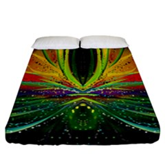 Future Abstract Desktop Wallpaper Fitted Sheet (california King Size) by Amaryn4rt