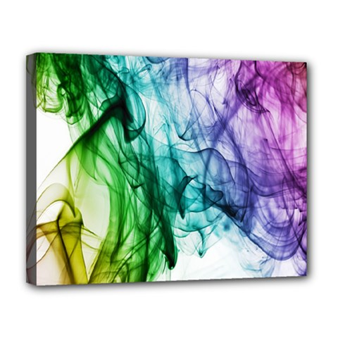 Colour Smoke Rainbow Color Design Canvas 14  X 11  by Amaryn4rt