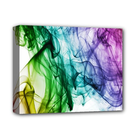 Colour Smoke Rainbow Color Design Deluxe Canvas 14  X 11  by Amaryn4rt