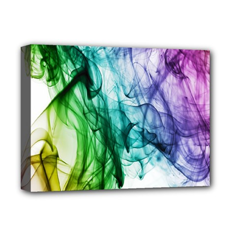 Colour Smoke Rainbow Color Design Deluxe Canvas 16  X 12   by Amaryn4rt