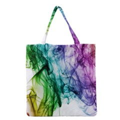 Colour Smoke Rainbow Color Design Grocery Tote Bag