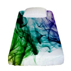 Colour Smoke Rainbow Color Design Fitted Sheet (Single Size)