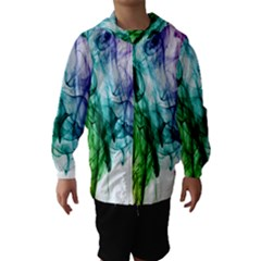 Colour Smoke Rainbow Color Design Hooded Wind Breaker (Kids)