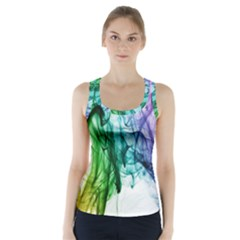 Colour Smoke Rainbow Color Design Racer Back Sports Top