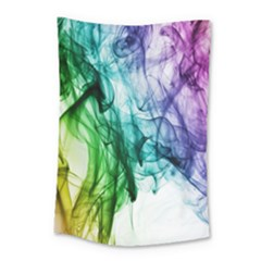 Colour Smoke Rainbow Color Design Small Tapestry by Amaryn4rt