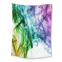 Colour Smoke Rainbow Color Design Medium Tapestry by Amaryn4rt