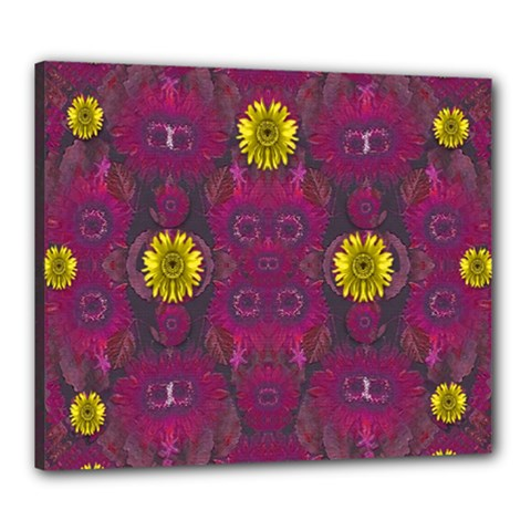 Colors And Wonderful Sun  Flowers Canvas 24  X 20  by pepitasart