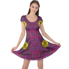 Colors And Wonderful Sun  Flowers Cap Sleeve Dresses by pepitasart