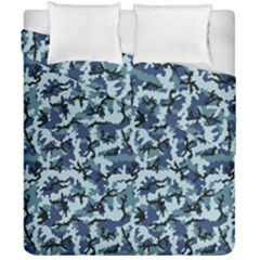 Navy Camouflage Duvet Cover Double Side (california King Size) by sifis