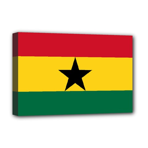 Flag Of Ghana Deluxe Canvas 18  X 12   by abbeyz71