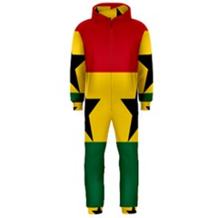 Flag Of Ghana Hooded Jumpsuit (men)  by abbeyz71