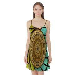 Kaleidoscope Dream Illusion Satin Night Slip by Amaryn4rt