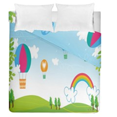Landscape Sky Rainbow Garden Duvet Cover Double Side (queen Size) by Amaryn4rt