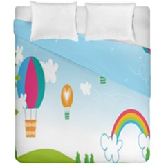 Landscape Sky Rainbow Garden Duvet Cover Double Side (california King Size) by Amaryn4rt