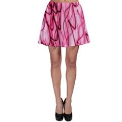 An Unusual Background Photo Of Black Swirls On Pink And Magenta Skater Skirt by Amaryn4rt