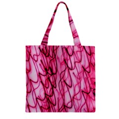 An Unusual Background Photo Of Black Swirls On Pink And Magenta Zipper Grocery Tote Bag