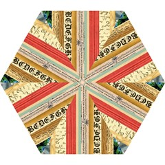 Digitally Created Collage Pattern Made Up Of Patterned Stripes Mini Folding Umbrellas by Amaryn4rt