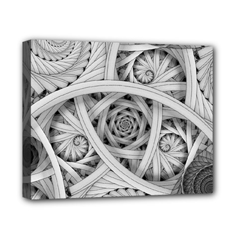 Fractal Wallpaper Black N White Chaos Canvas 10  X 8  by Amaryn4rt