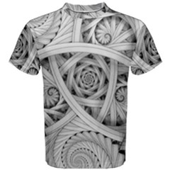 Fractal Wallpaper Black N White Chaos Men s Cotton Tee
