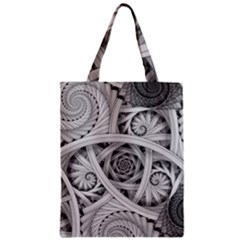 Fractal Wallpaper Black N White Chaos Zipper Classic Tote Bag