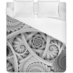 Fractal Wallpaper Black N White Chaos Duvet Cover (california King Size) by Amaryn4rt