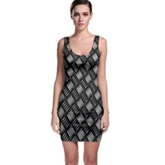 Abstract Of Metal Plate With Lines Sleeveless Bodycon Dress