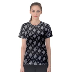 Abstract Of Metal Plate With Lines Women s Sport Mesh Tee by Amaryn4rt