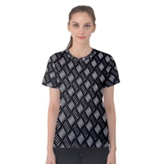 Abstract Of Metal Plate With Lines Women s Cotton Tee