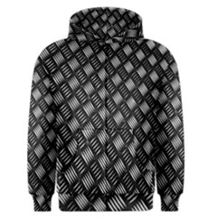 Abstract Of Metal Plate With Lines Men s Zipper Hoodie