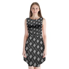 Abstract Of Metal Plate With Lines Sleeveless Chiffon Dress