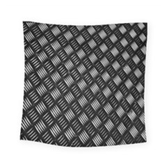 Abstract Of Metal Plate With Lines Square Tapestry (small)