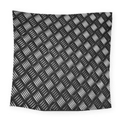 Abstract Of Metal Plate With Lines Square Tapestry (large)