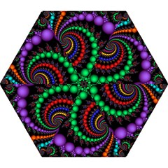 Fractal Background With High Quality Spiral Of Balls On Black Mini Folding Umbrellas by Amaryn4rt
