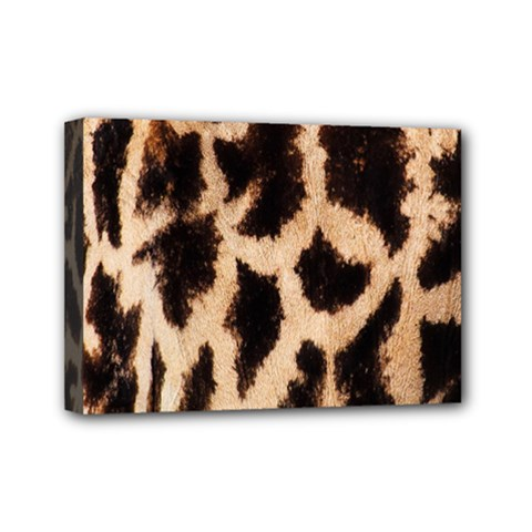 Yellow And Brown Spots On Giraffe Skin Texture Mini Canvas 7  X 5  by Amaryn4rt