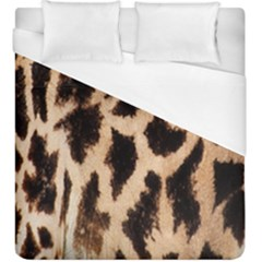Yellow And Brown Spots On Giraffe Skin Texture Duvet Cover (king Size) by Amaryn4rt