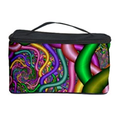 Fractal Background With Tangled Color Hoses Cosmetic Storage Case by Amaryn4rt