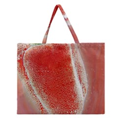 Red Pepper And Bubbles Zipper Large Tote Bag by Amaryn4rt