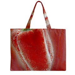 Red Pepper And Bubbles Medium Zipper Tote Bag by Amaryn4rt