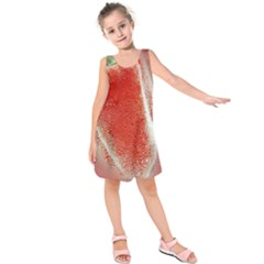 Red Pepper And Bubbles Kids  Sleeveless Dress by Amaryn4rt