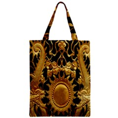 Golden Sun Zipper Classic Tote Bag