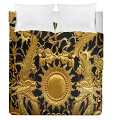 Golden Sun Duvet Cover Double Side (queen Size) by Amaryn4rt