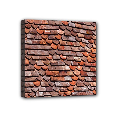 Roof Tiles On A Country House Mini Canvas 4  X 4  by Amaryn4rt