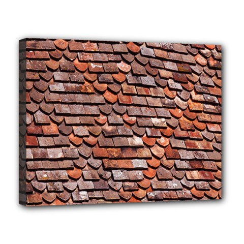 Roof Tiles On A Country House Canvas 14  X 11  by Amaryn4rt