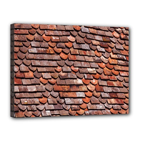 Roof Tiles On A Country House Canvas 16  X 12  by Amaryn4rt