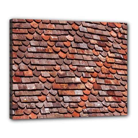 Roof Tiles On A Country House Canvas 20  X 16  by Amaryn4rt